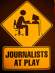 Journalists-at-play
