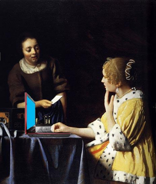 Vermeer-ladies-computer-laptop