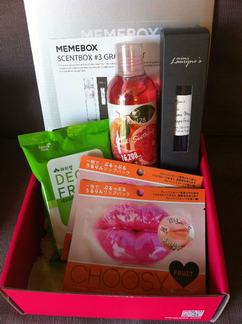Memebox scent box grapefruit contents