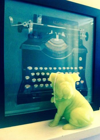 Office typewriter pug