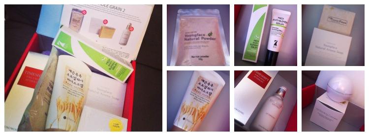 Memebox whole grain 2 contents unboxing