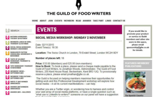 Guild of food writers social media workshop